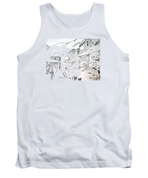 Machu Picchu Tank Top by Marilyn Zalatan