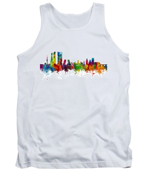 Madrid Spain Skyline Tank Top