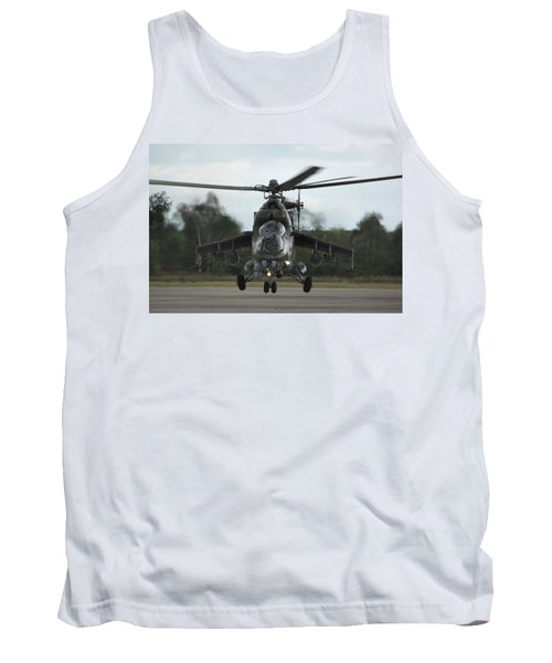 Tank Top featuring the photograph Mil Mi-24v Hind E by Tim Beach