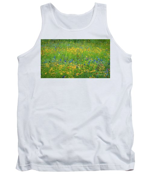 Mixed Wildflowers In Texas 538 Tank Top