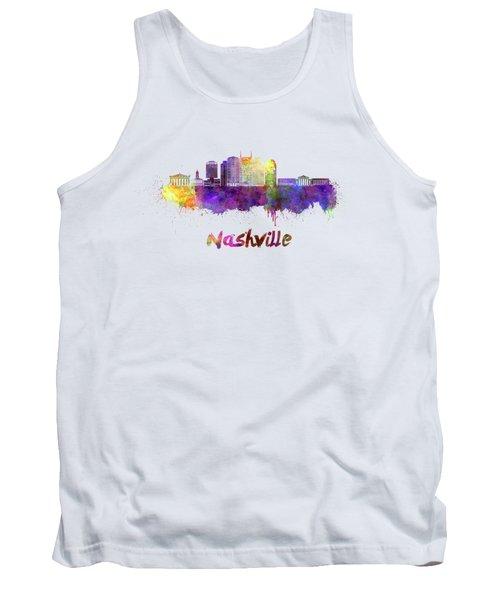 Nashville Skyline In Watercolor Tank Top