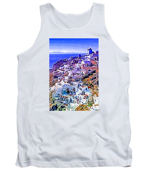 Oia Town On Santorini Tank Top