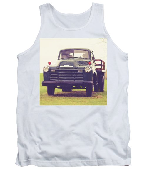 Old Chevy Farm Truck In Vermont Square Tank Top