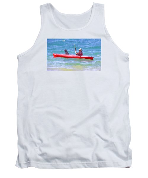Out For A Ride Tank Top by Susan Crossman Buscho
