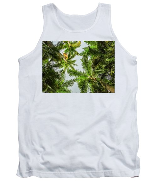 Palm Trees And Blue Sky Tank Top