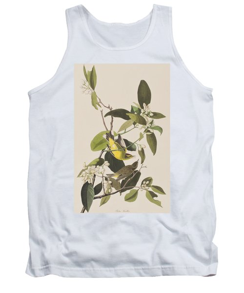 Palm Warbler Tank Top by John James Audubon