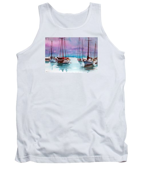 Tank Top featuring the painting Phang-nga Bay by Ed Heaton