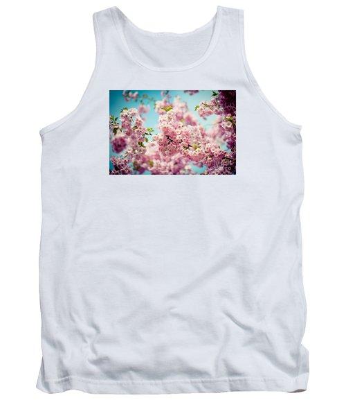 Pink Cherry Blossoms Sakura Tank Top