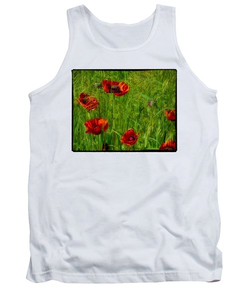 Poppies Tank Top by Hugh Smith