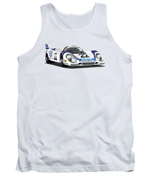 Porsche 917 Illustration Tank Top