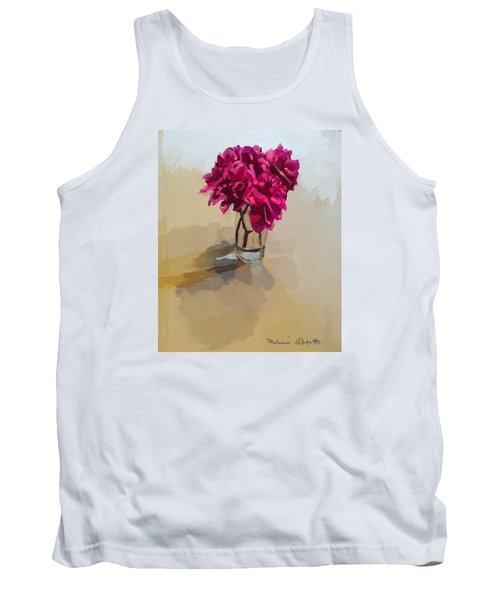 Purple Dahlias Tank Top