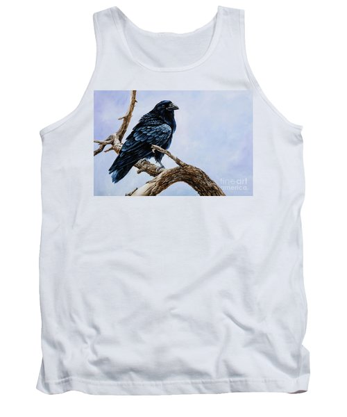 Tank Top featuring the painting Raven by Igor Postash