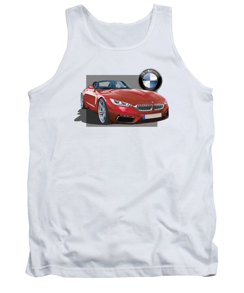 Red 2018 B M W  Z 5 With 3 D Badge  Tank Top