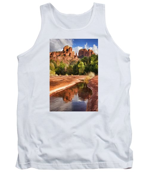 Reflections Of Cathedral Rock Tank Top