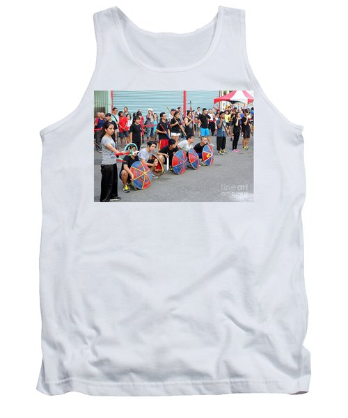 Tank Top featuring the photograph Religious Martial Arts Performance In Taiwan by Yali Shi