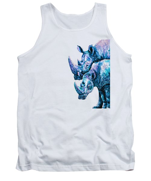 Rhinoceros Couple Tank Top