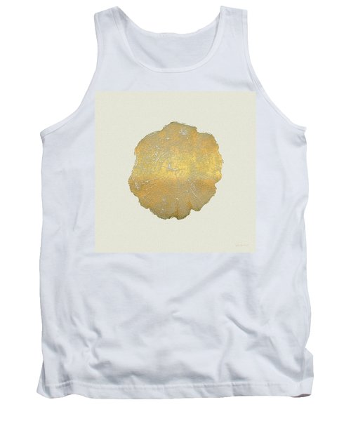 Rings Of A Tree Trunk Cross-section In Gold On Linen  Tank Top