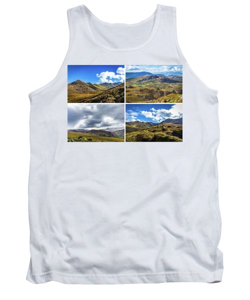 Tank Top featuring the photograph Postcard Of Rock Formation Landscape With Clouds And Sun Rays In Ireland by Semmick Photo