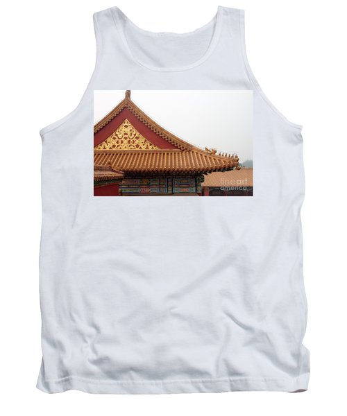 Roof Forbidden City Beijing China Tank Top