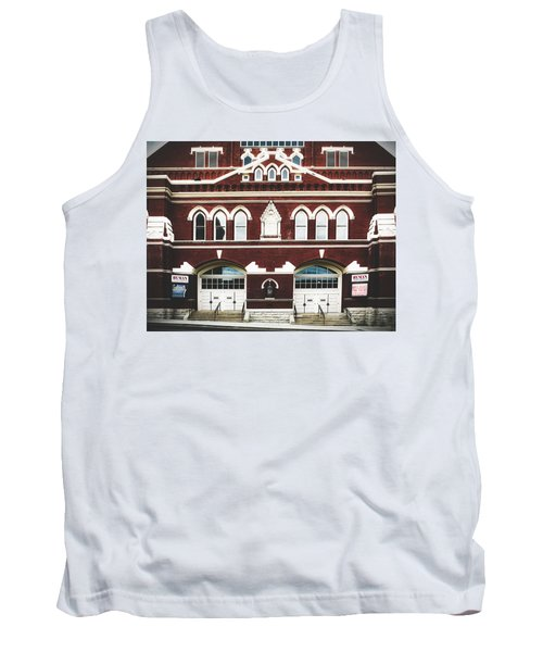 Ryman Auditorium -the Home Of Country Music Tank Top