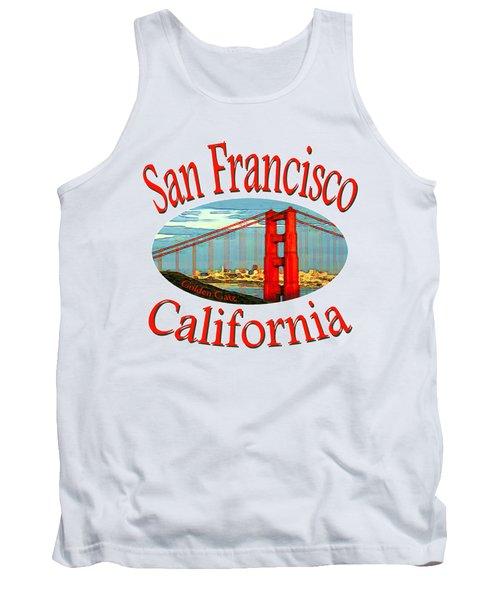 San Francisco California - Tshirt Design Tank Top by Art America Gallery Peter Potter