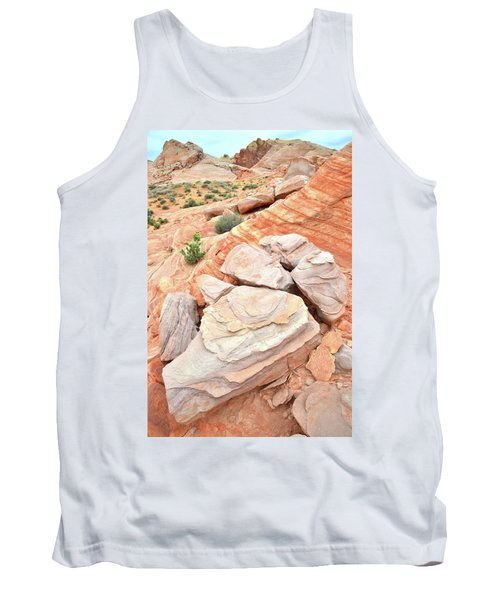 Tank Top featuring the photograph Sandstone Cove In Valley Of Fire by Ray Mathis