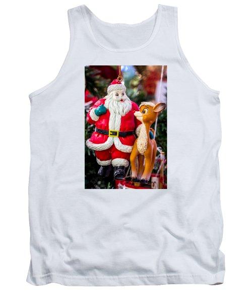 Santa And Rudolf Christmas Ornament Tank Top