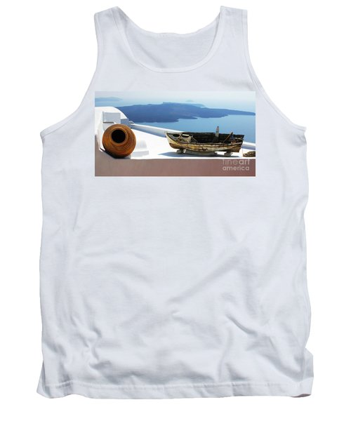 Tank Top featuring the photograph Santorini Greece by Bob Christopher