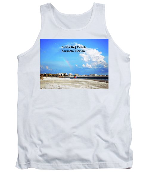 Tank Top featuring the photograph Siesta Beach by Gary Wonning