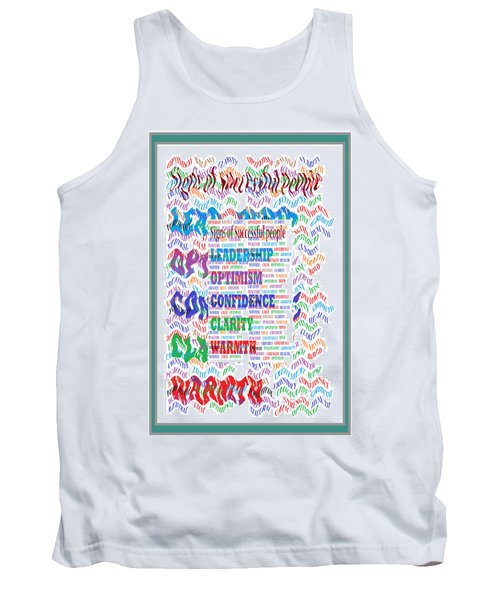 Signs Of Successful People A Texto-graphic Of Leadership Qualities Poster Tank Top