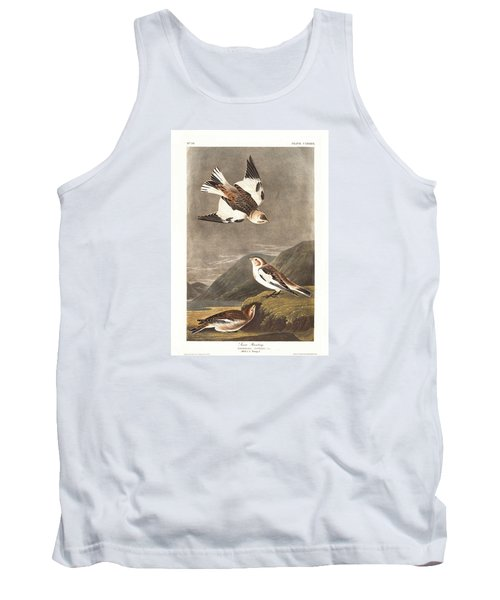 Snow Bunting Tank Top by Dreyer Wildlife Print Collections