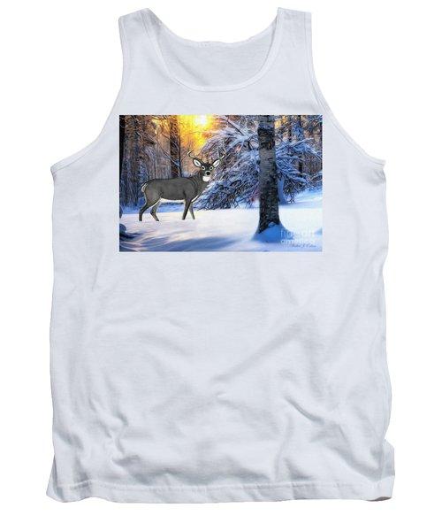 Snow Deer Tank Top