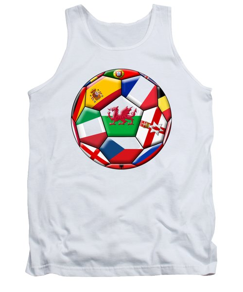 Soccer Ball With Flag Of  Wales In The Center Tank Top