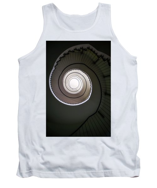 Tank Top featuring the photograph Spiral Staircase In Brown Tones by Jaroslaw Blaminsky