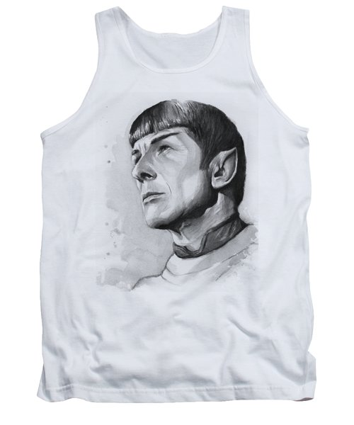 Spock Portrait Tank Top by Olga Shvartsur