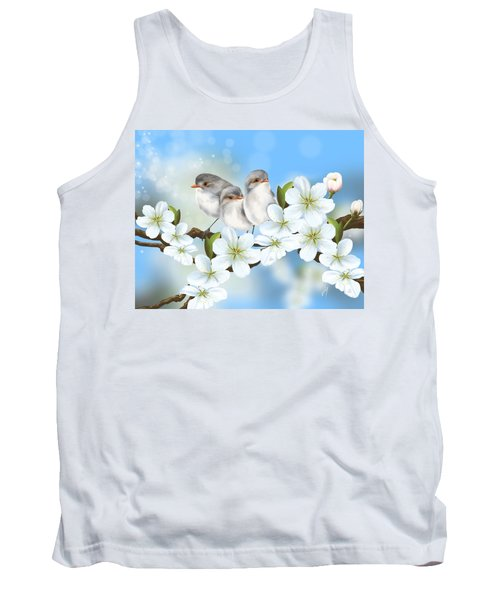 Tank Top featuring the painting Spring Fever by Veronica Minozzi