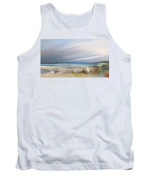 Storm Over Beach Tank Top by Anthony Fishburne