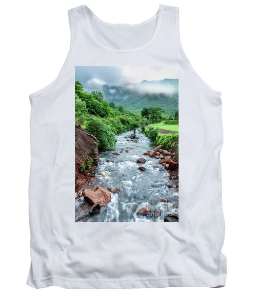 Tank Top featuring the photograph Stream by Charuhas Images