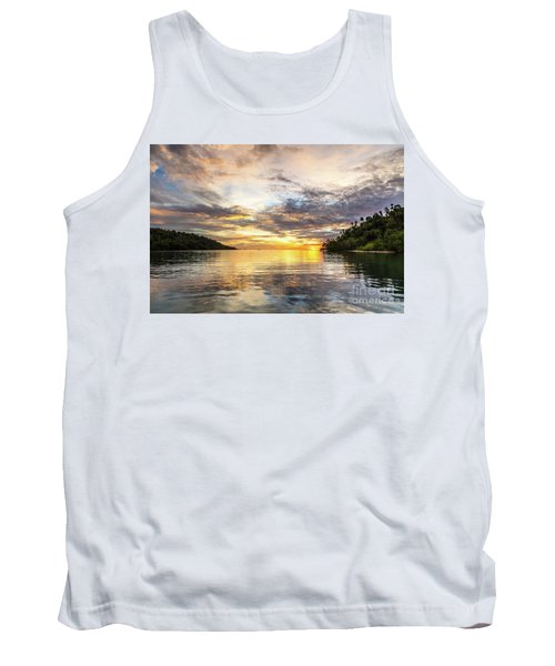 Stunning Sunset In The Togian Islands In Sulawesi Tank Top