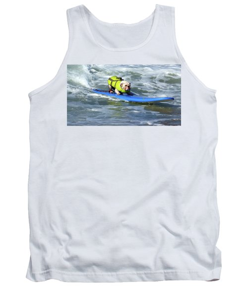 Tank Top featuring the photograph Surfing Dog by Thanh Thuy Nguyen