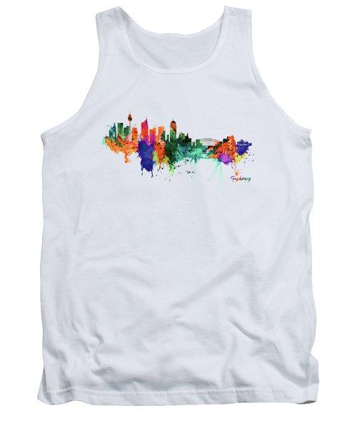 Sydney Watercolor Skyline  Tank Top