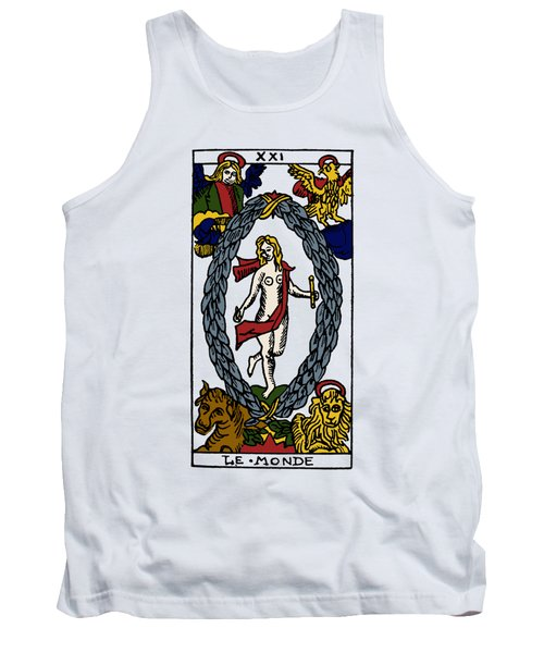 Tarot Card The World Tank Top
