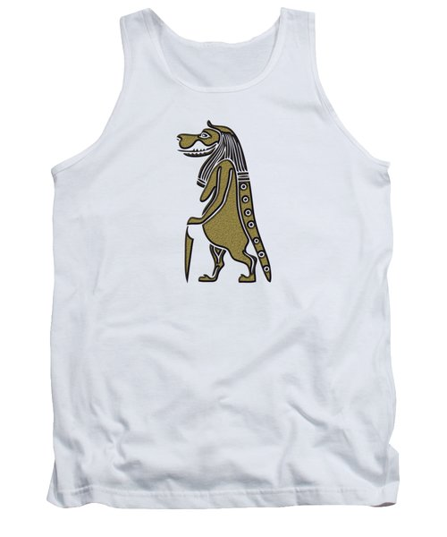 Tank Top featuring the mixed media Taweret - Mythical Creature Of Ancient Egypt by Michal Boubin