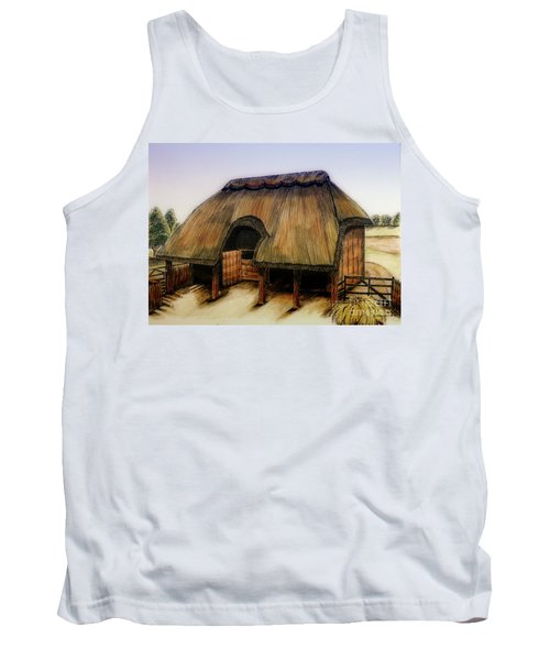 Thatched Barn Of Old Tank Top by Shari Nees