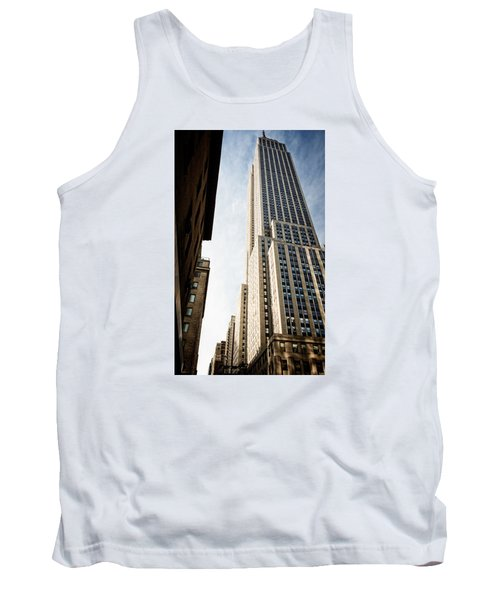 Tank Top featuring the photograph The Empire State Building by Sabine Edrissi