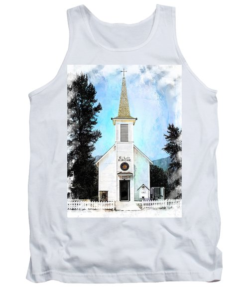 The Little White Church In Elbe Tank Top