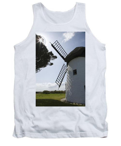 Tank Top featuring the photograph The Old Irish Windmill by Ian Middleton