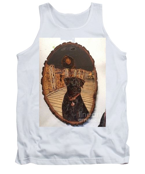 Tank Top featuring the pyrography Timber by Denise Tomasura