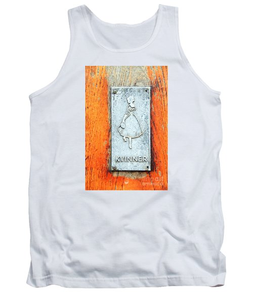 Toilet Sign  Tank Top