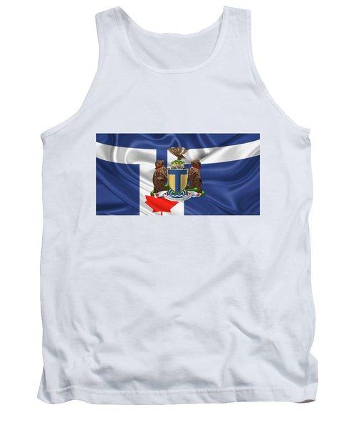 Toronto - Coat Of Arms Over City Of Toronto Flag  Tank Top